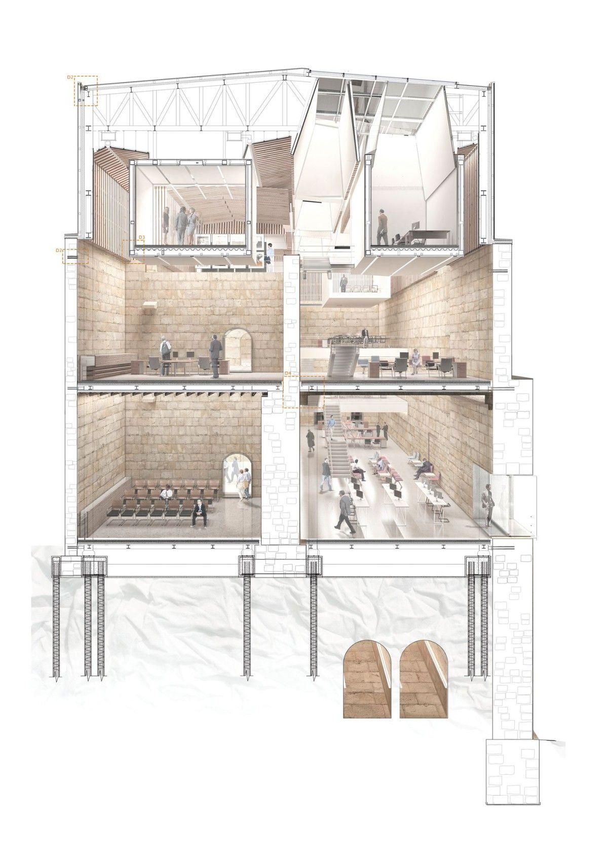 Rub n lasanta edificio usos mixtos casalarreina 13 for Architettura di interni