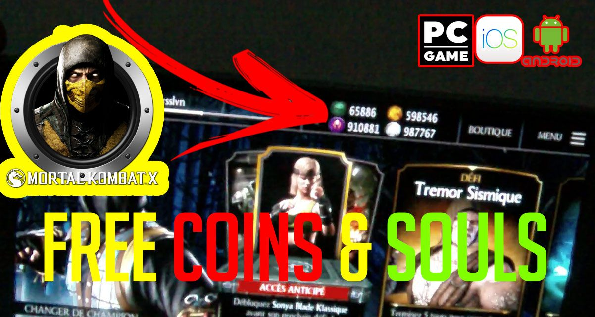 Mortal kombat x unlimited koins and souls apk | Mortal
