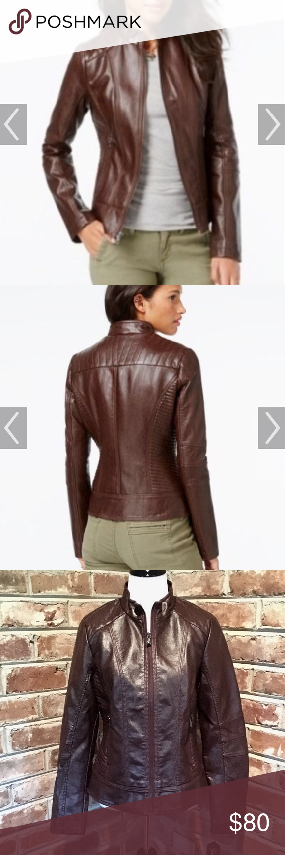 Guess Quilted Detail Faux Leather Moto Jacket Clothes Design Fashion Design Faux Leather Moto Jacket [ 1740 x 580 Pixel ]
