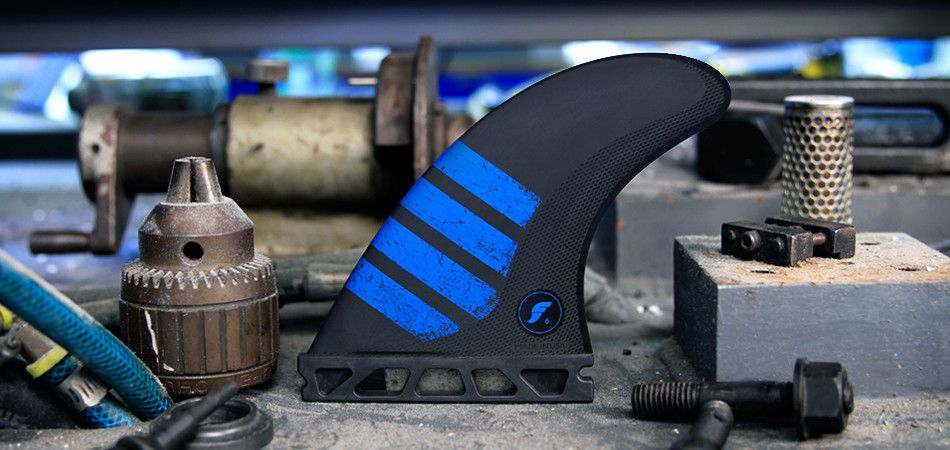 Futures Fins F6 Alpha Series Medium Carbon Blue Thruster Fins 1165323