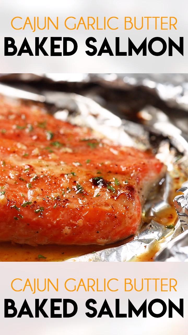 Cajun Garlic Baked Salmon - Cajun Garlic Baked Salmon is moist, tender, and simple to make with ea