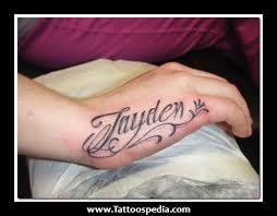 Children S Names Tattoos For Women Google Search Hand Tattoo Hand Tattoos 10 Tattoo