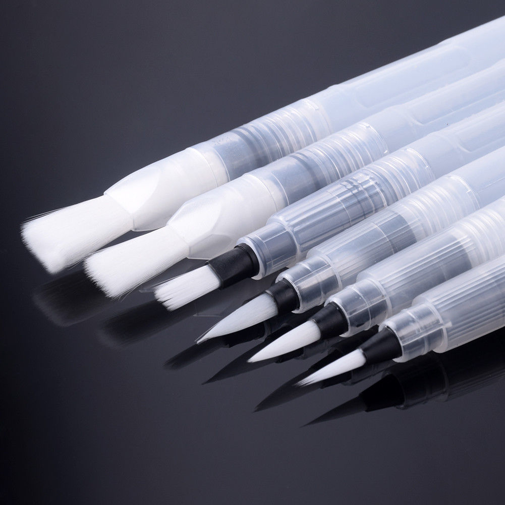 6 17 Refillable Pilot Water Brush Ink Pen For Watercolour