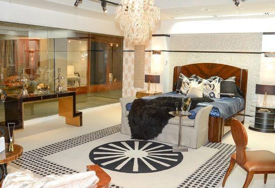 art deco bedroom -