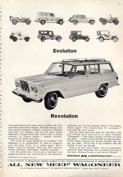 Jeep Wagoneer Evolution Revolution 1964 With Images Jeep