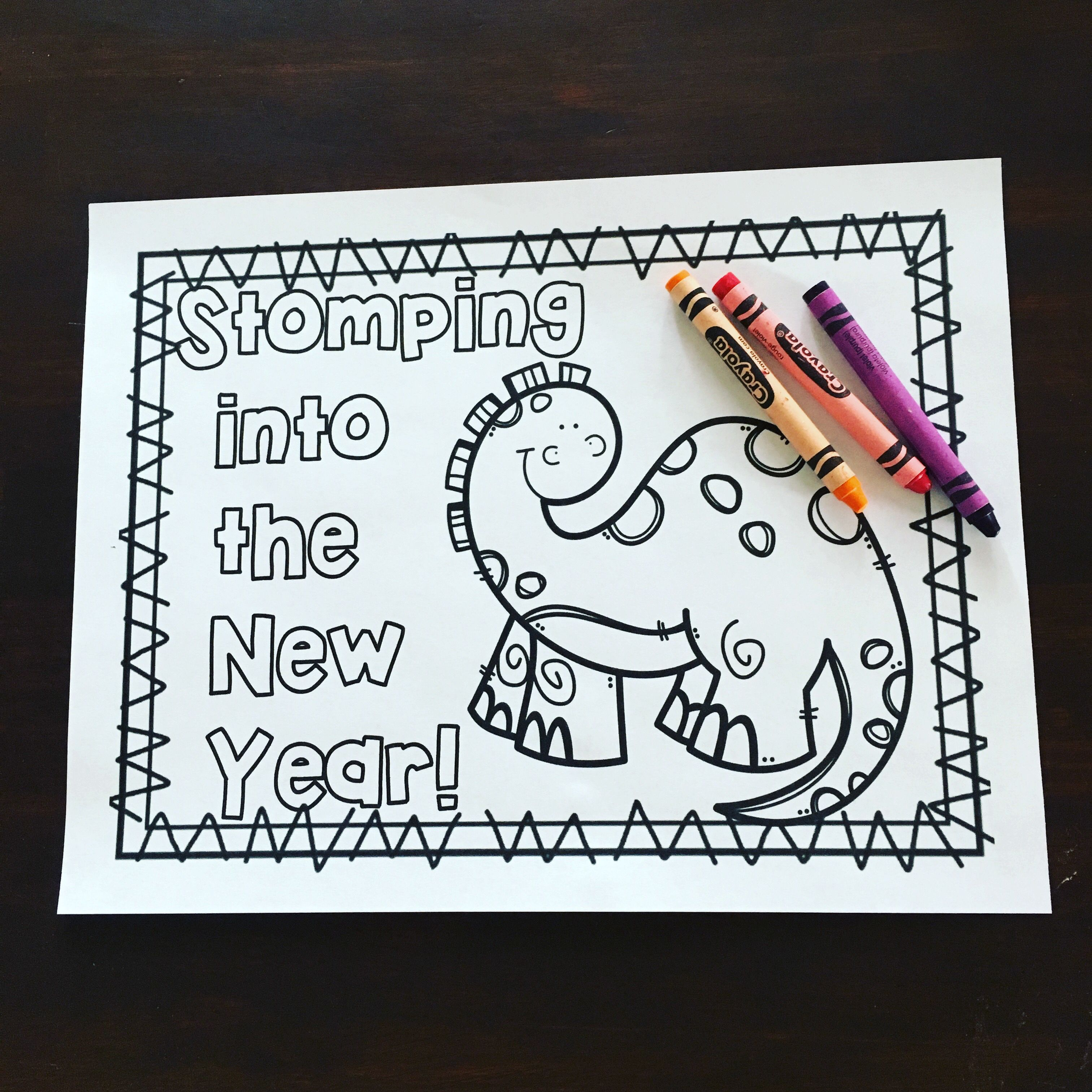 Stomping Into The New Year Coloring Sheet And Worksheets
