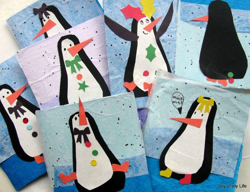 tarjetas de navidad con divertidos pinguinos HIVERN - NADAL