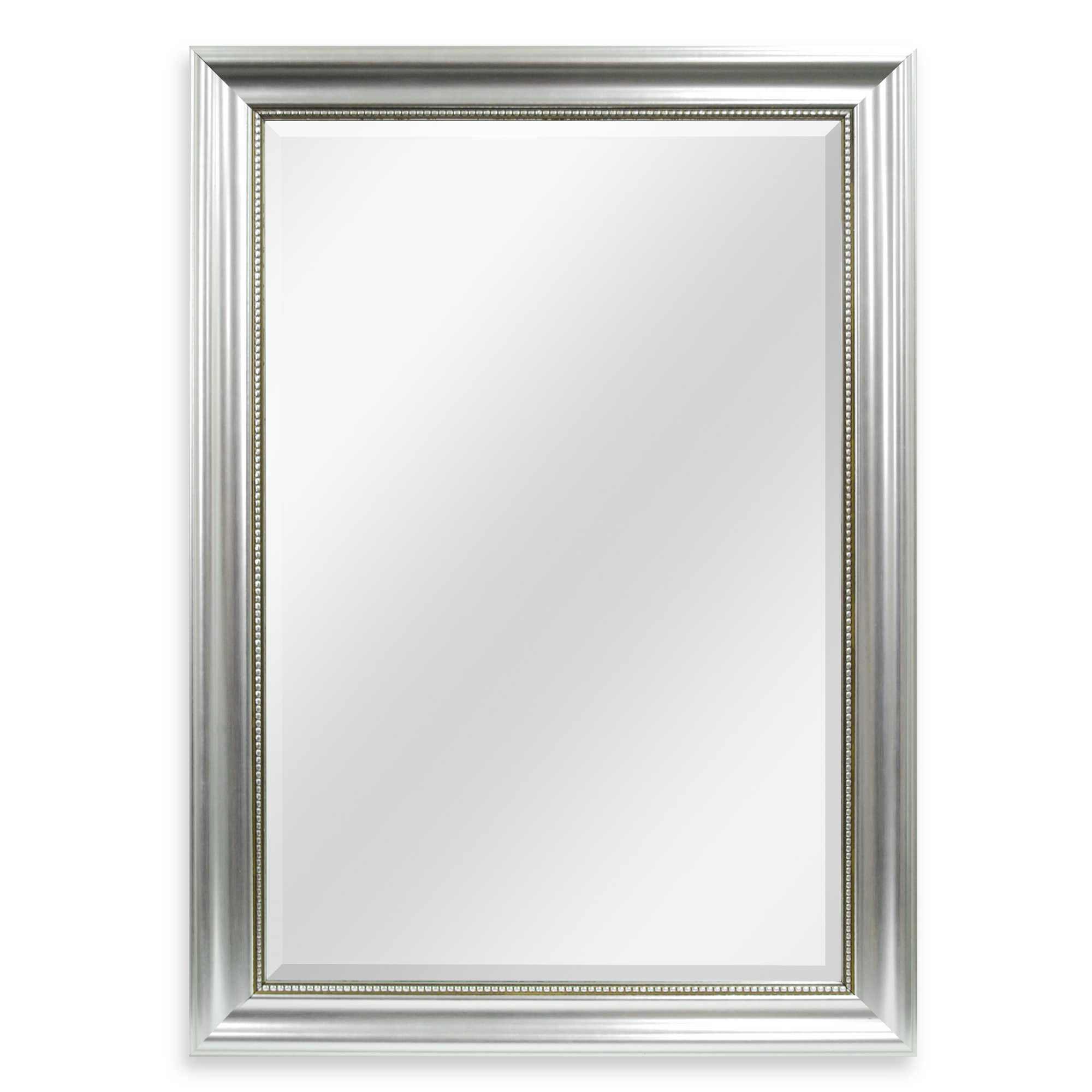 Decorative 30 25 Inch X 42 25 Inch Large Wall Mirror In Silver