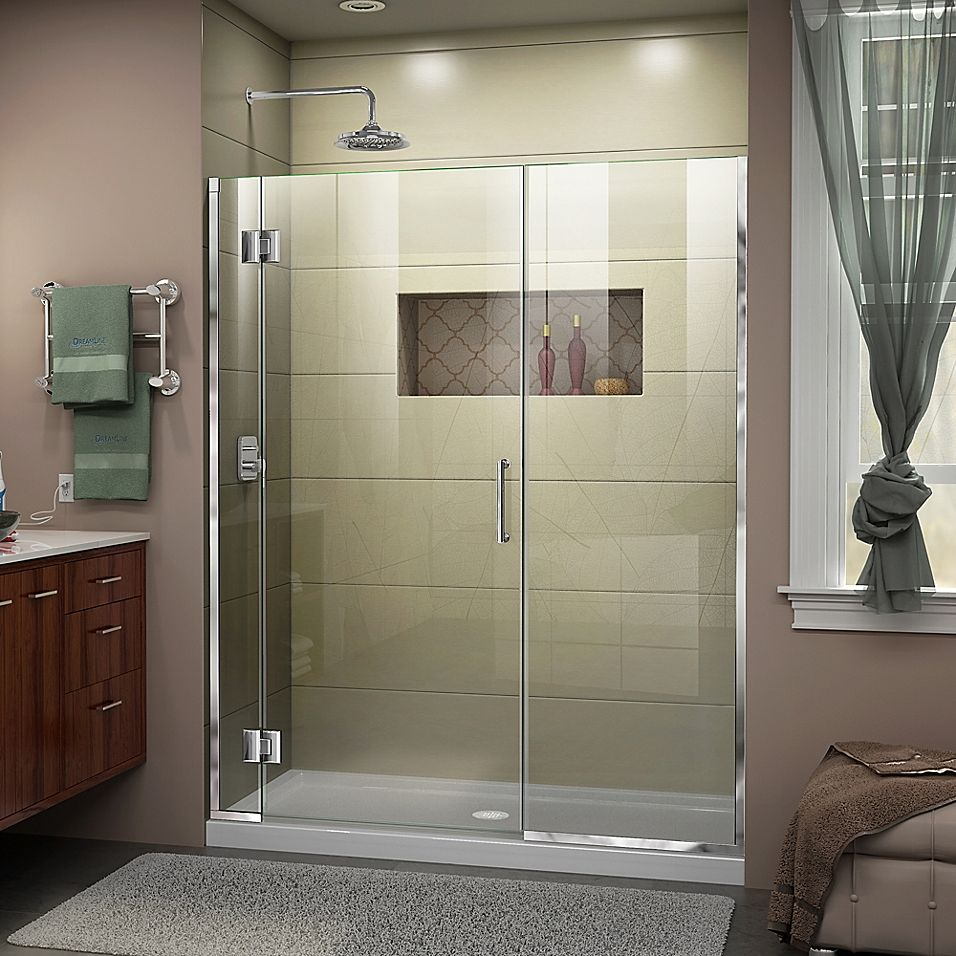 Dreamline Unidoor X 51 51 5 X 72 Frameless Hinged Shower Door In