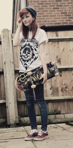 Punk rock teen girls
