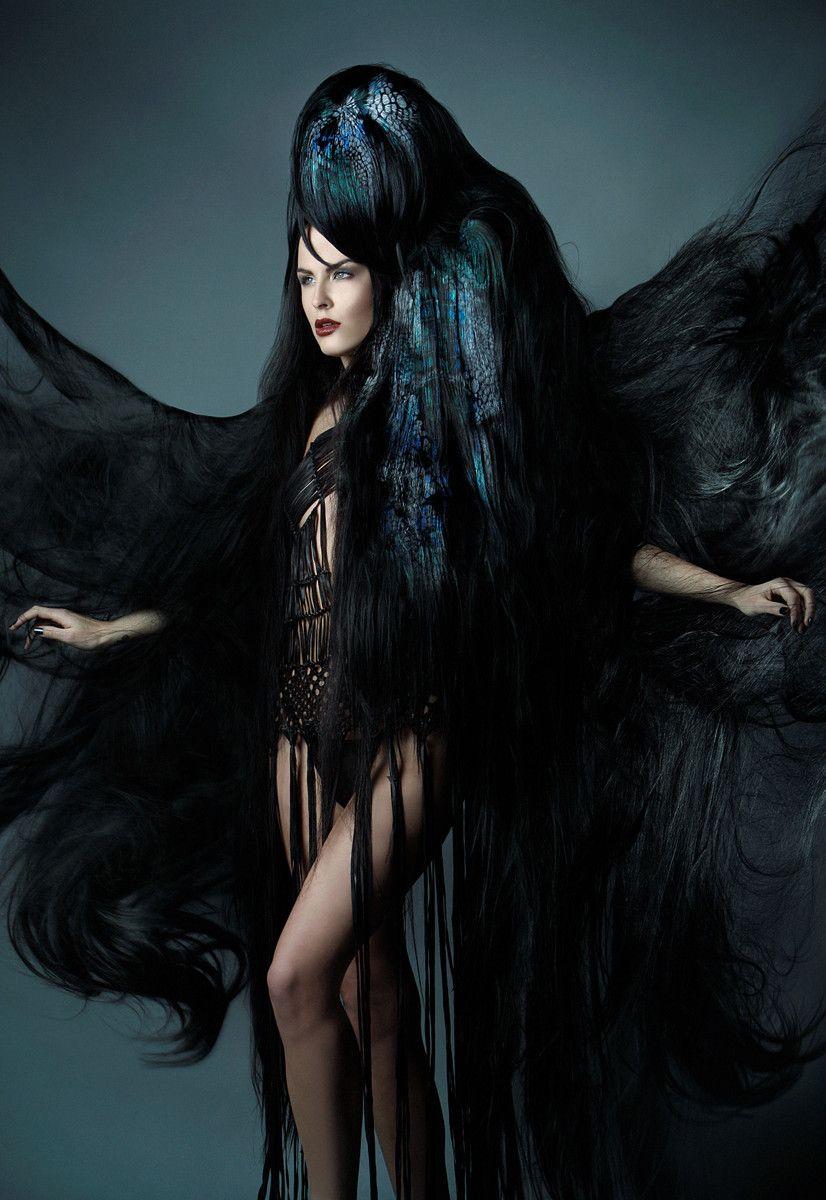 Avantgarde iwantthathair nightraven somuchhair extreme gothic