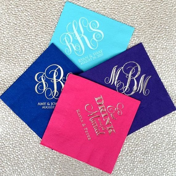 These Monogrammed Wedding Napkins Are Perfect For Your Wedding Or Special Event Set Out At The