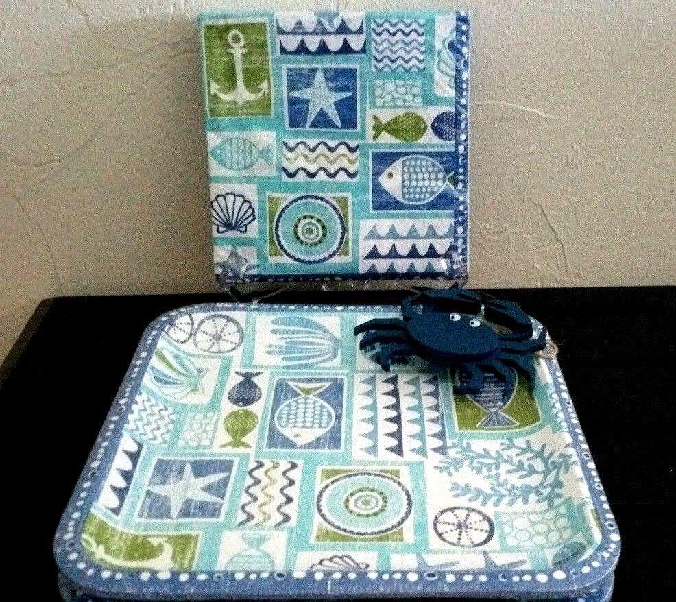 & Coastal Table Paper Plates Napkins 20 Ct Blue Sea Nautical