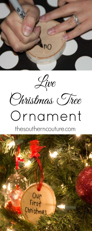 Live Christmas Tree Ornament   Live christmas trees, Christmas tree ...
