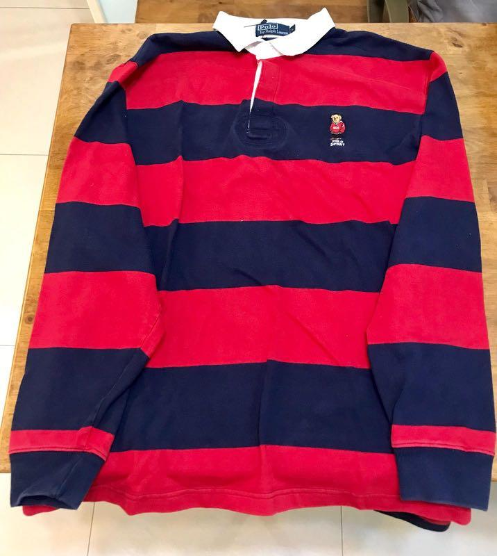 Vintage Polo Ralph Bear Rugby Shirt In 2020 Vintage Polo Rugby Shirt Shirts