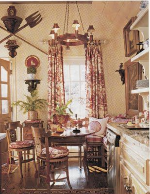 French Country Dining with toile by Hydrangea Hill Cottage #toile ...