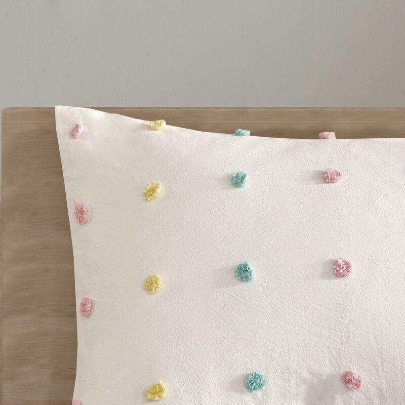Callie Cotton Jacquard Pom Pom Duvet Cover Set In 2021 Duvet Cover Sets Duvet Covers Cotton Duvet Cover