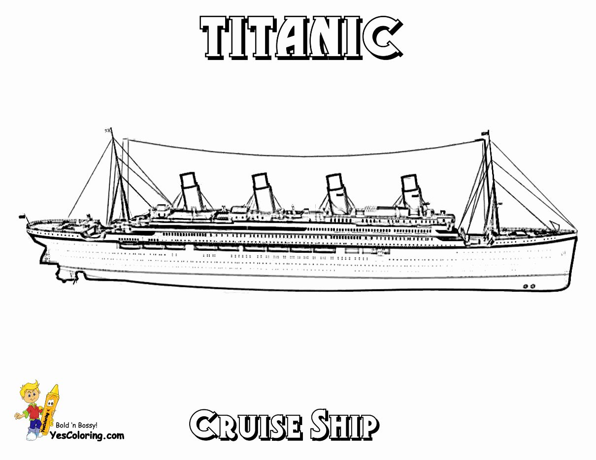 28 Cruise Ship Coloring Page In 2020 Coloring Pages Titanic