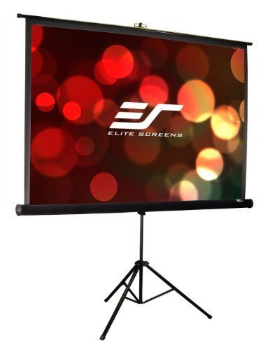 Elite Screens T119uws1 Pro Tripod Portable Projection Screen 119 Inch Diag 1 1 Viewable 84 H X 84 W Projector Screen Projection Screen Projector Screen Diy