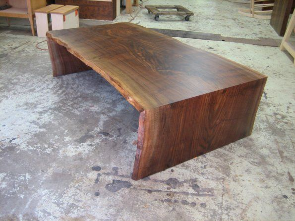 Waterfall Claro Walnut Low Table Table Furniture Side Tables