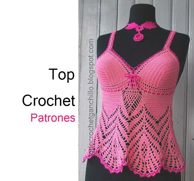 ❤~Crochet இڿڰۣ-ڰۣ— ❀ ✿ Todo crochet: Solero Top Crochet ...