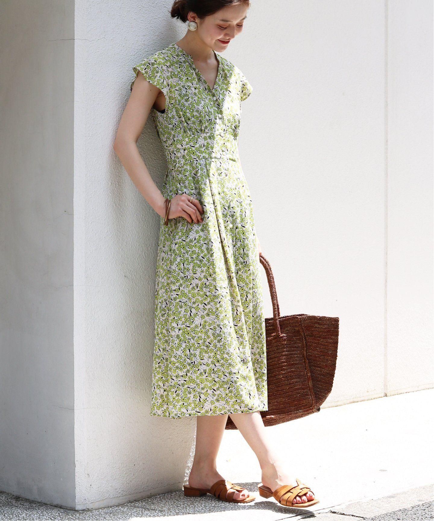 追加2 フラワープリントワンピース iena イエナ 公式のファッション通販 19040900427210 baycrew s store ワンピース ファッションアイデア アジアンファッション