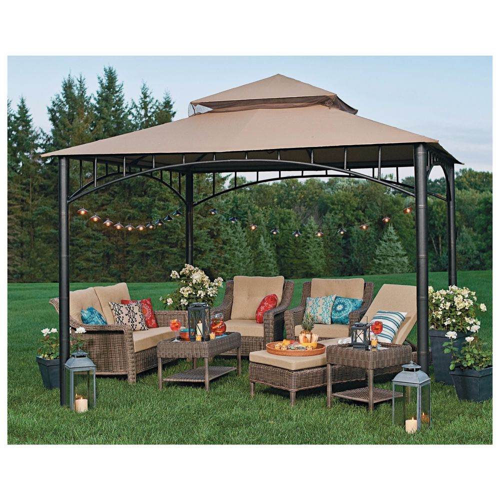 Pergola Gazebo Tent Outdoor Canopy Cover Garden Shade Yard Patio Olive Umbrella Patio Tents Patio Canopy Patio