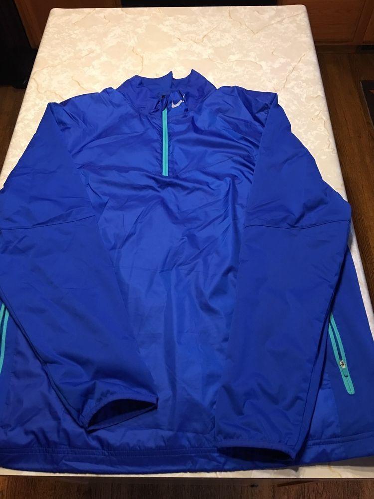 15266af79b Nike Golf Pullover Nylon Size XL Mens Royal Blue Raincoat  fashion   clothing  shoes