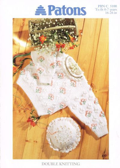 Patons 5100 baby jumper vintage knitting pattern PDF by Ellisadine, £1.15