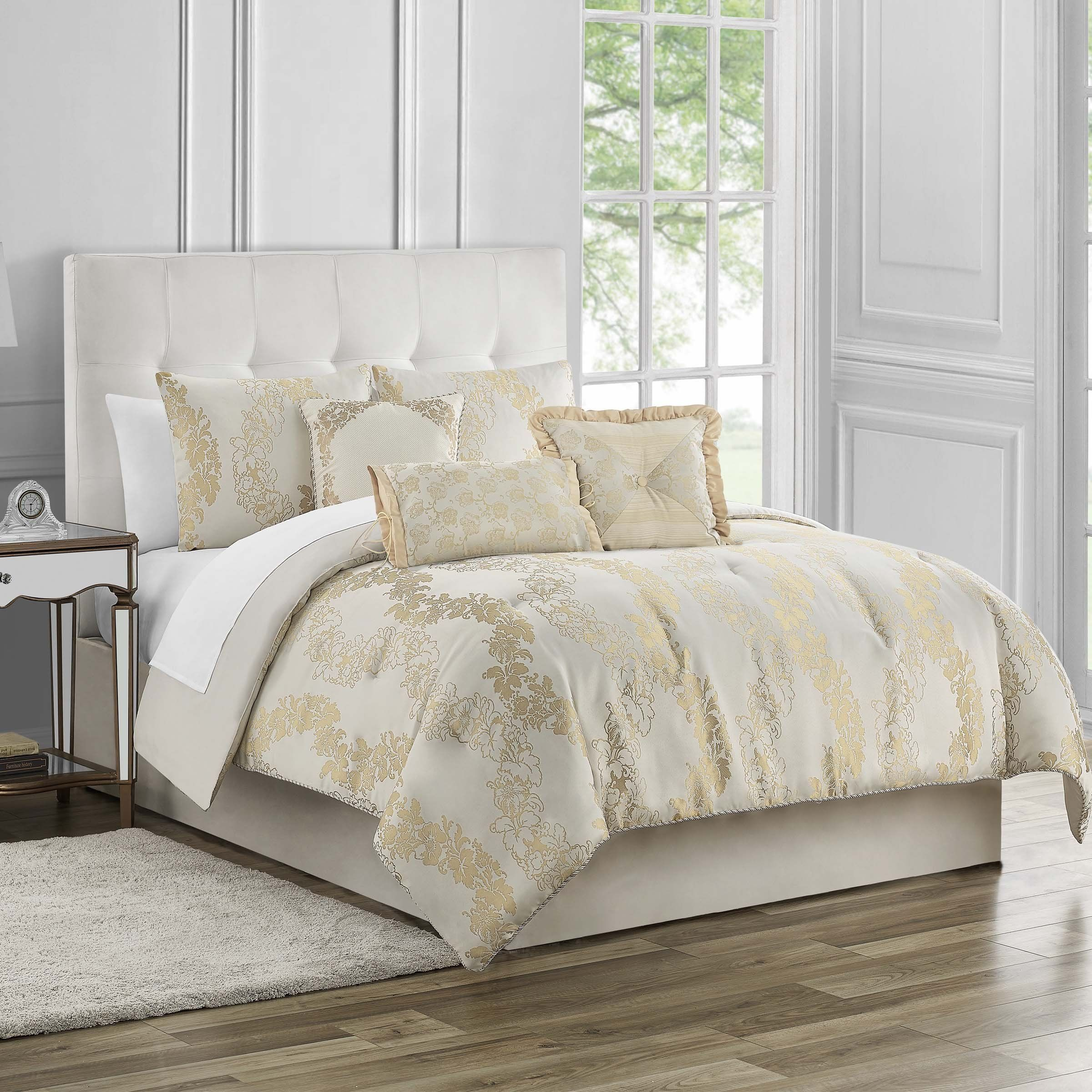 Oban Ivory 7 Piece Comforter Set In 2020 Comforter Sets Comforters King Comforter Sets