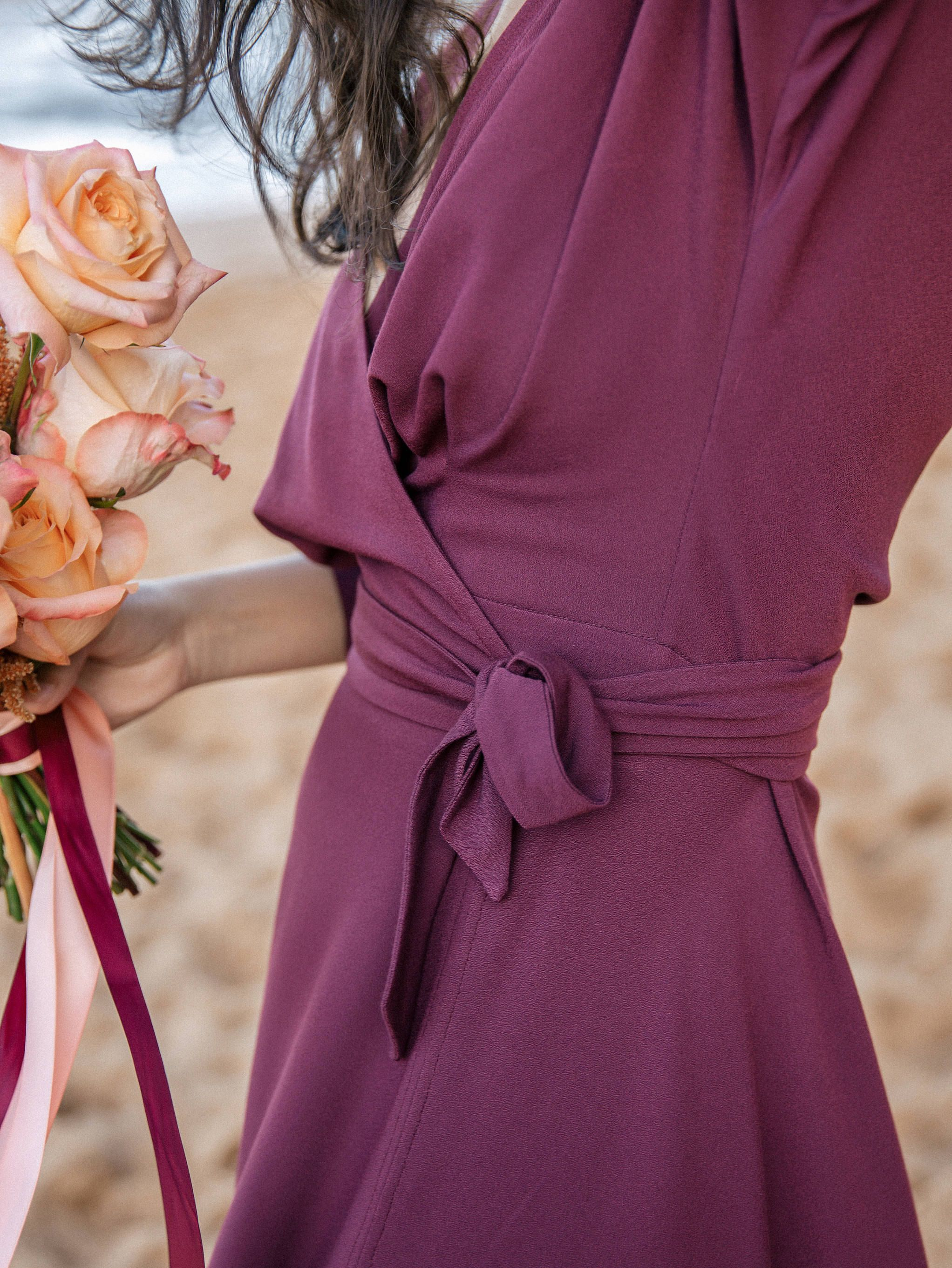 Kimono wrap dress for bridesmaids romantic maxi dress in a burgundy kimono wrap dress for bridesmaids romantic maxi dress in a burgundy plum perfect for a rustic style wedding also available in plus sizes ombrellifo Gallery