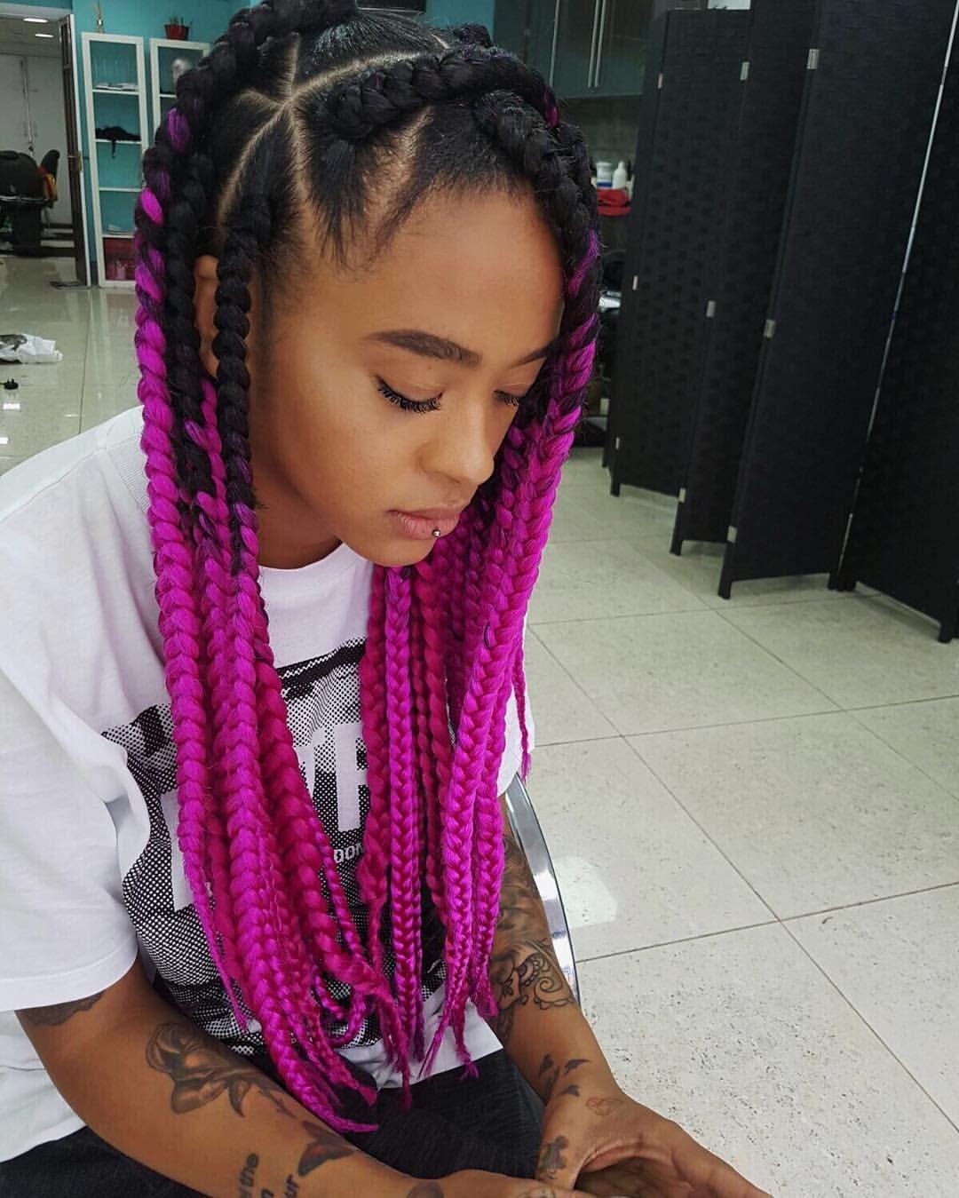sc yinkabokinni pink braids