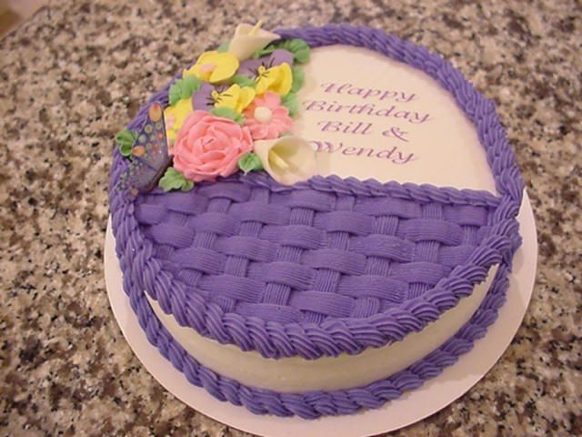 Superb Basket W Butterfly Icing Cake Design Butter Icing Cake Designs Funny Birthday Cards Online Aeocydamsfinfo