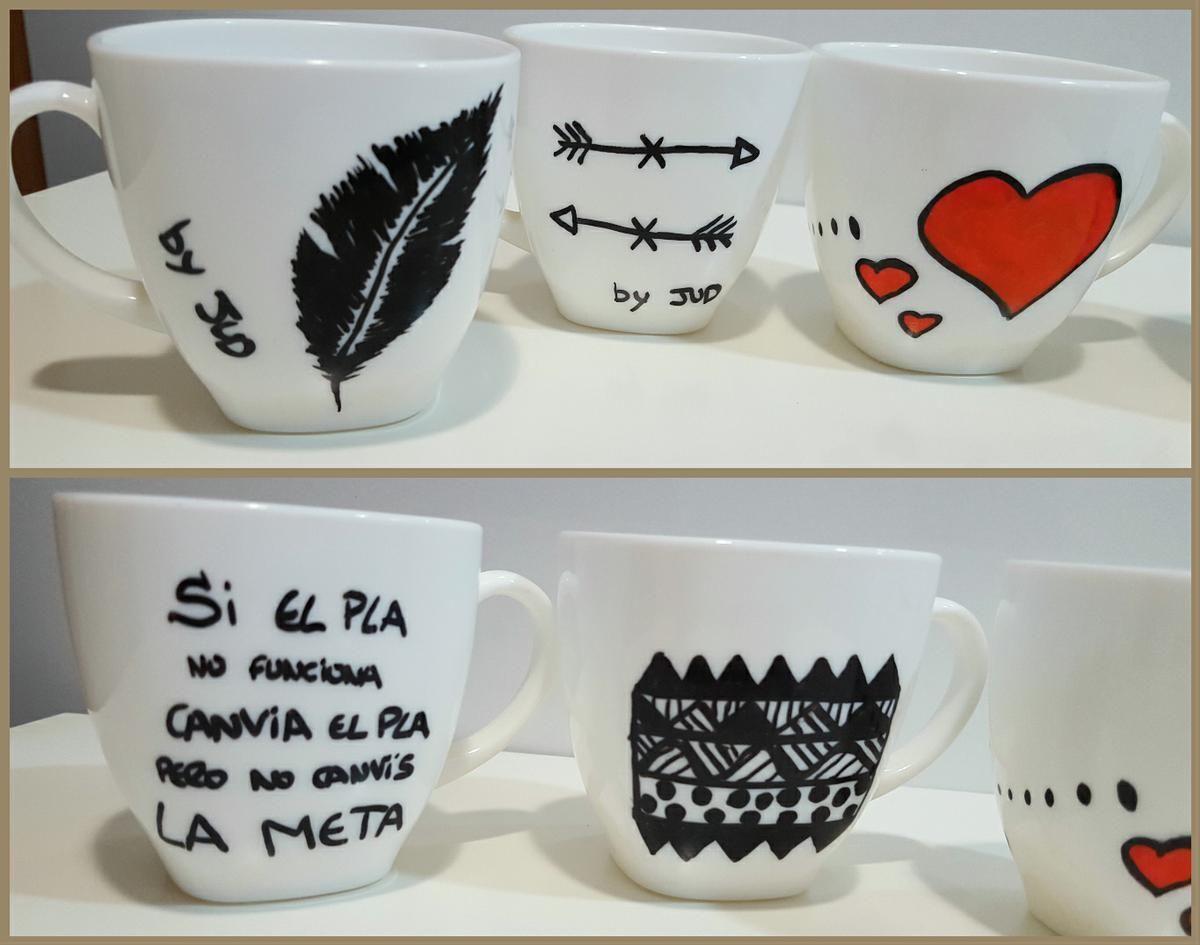 Decora tus tazas con ideas molonas cer mica y ideas - Decoracion de tazas ...
