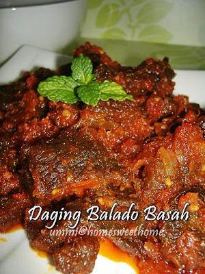 Home Sweet Home Daging Balado Basah Resep Masakan Asia Resep Daging Sapi Resep Makanan