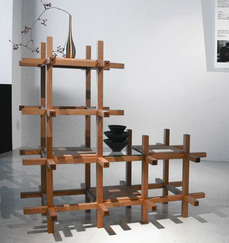 Traditional Japanese Toys Inspired This Modular Furniture By Architects  Kengo Kuma And Associates.