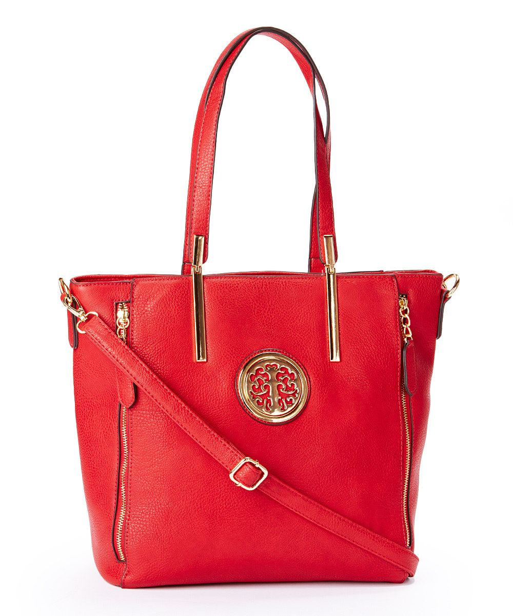 Loving this Red Julie Ornament Tote on zulily!