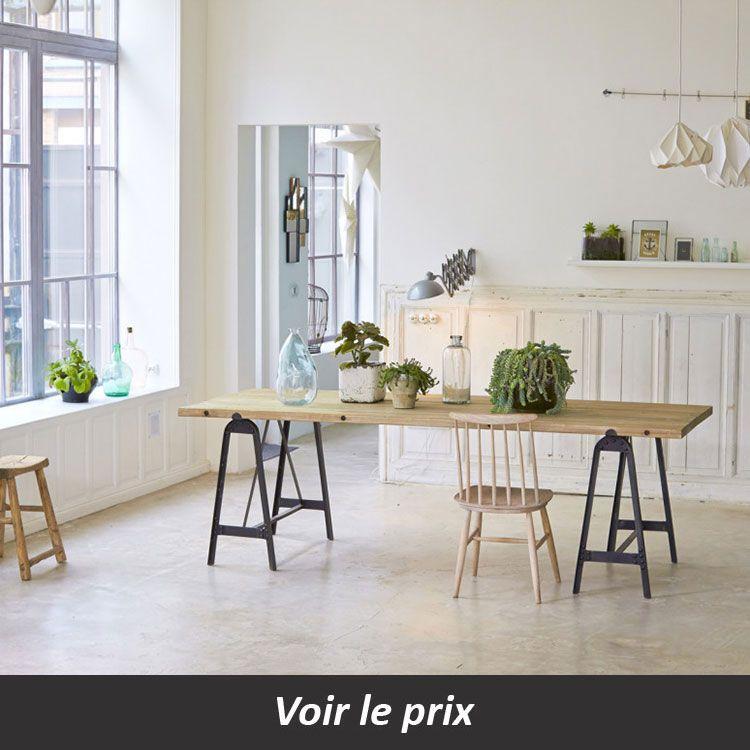 Table Plateau Bois Pied Metal Quel Modele Choisir Table Salle A Manger Table A Manger Treteaux Idee Deco Table