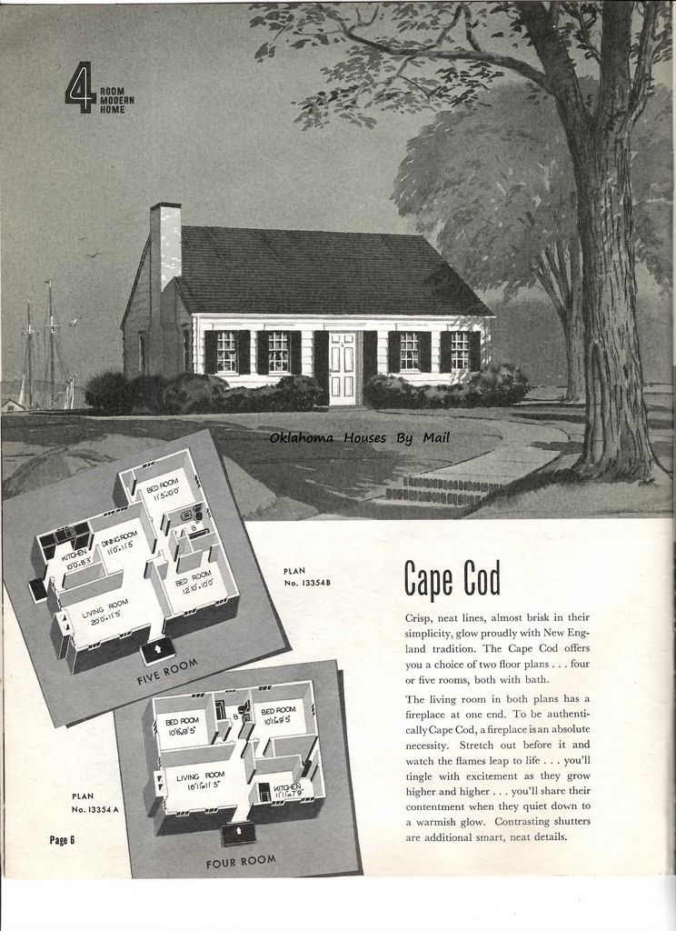 Sears 1939 1940 Cape Cod | For the Home in 2019 | Vintage ... on l shaped ranch house plans, original levittown house floor plans, 1945 house plans, cape cod cottage plans,