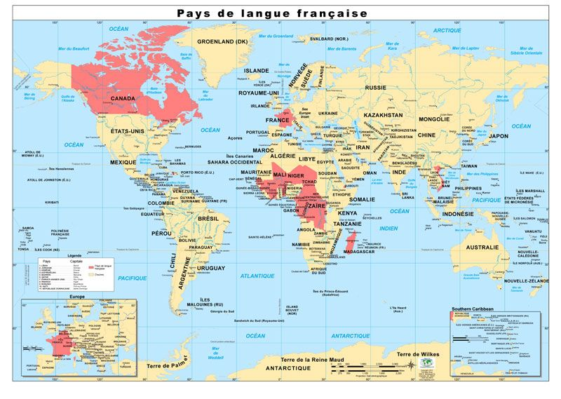 Assignment 1 This map represents the French speaking places in the