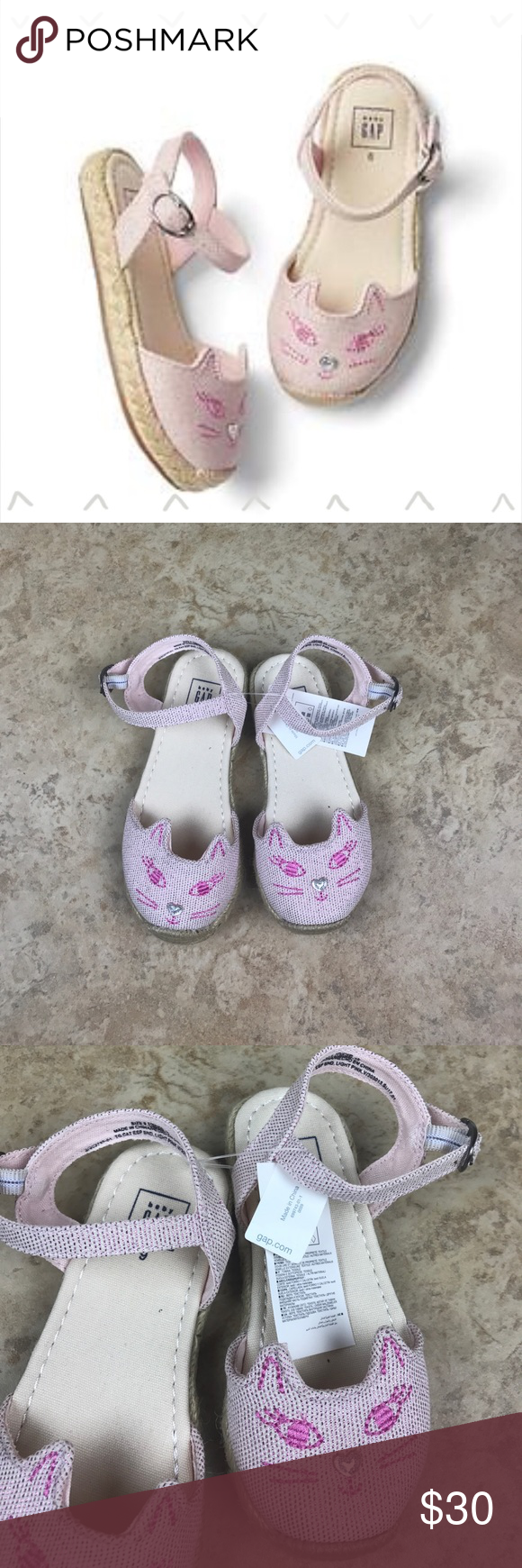 084df59b163b  NWT  Baby Gap light pink espadrille cat sandals  NWT  Baby GAP light pink  cat espadrille sandals in size 9. So cute and perfect for year round wear!