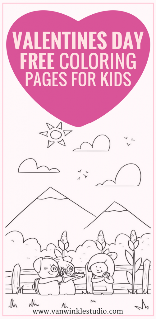 BlueHost.com | Valentines day coloring page, Valentines ...