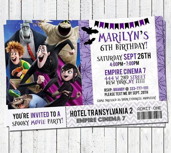 Tarjeta De Invitación Hotel Transilvania Hotel