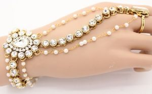 Indian Hand Chain Kundan Panja Hand piece