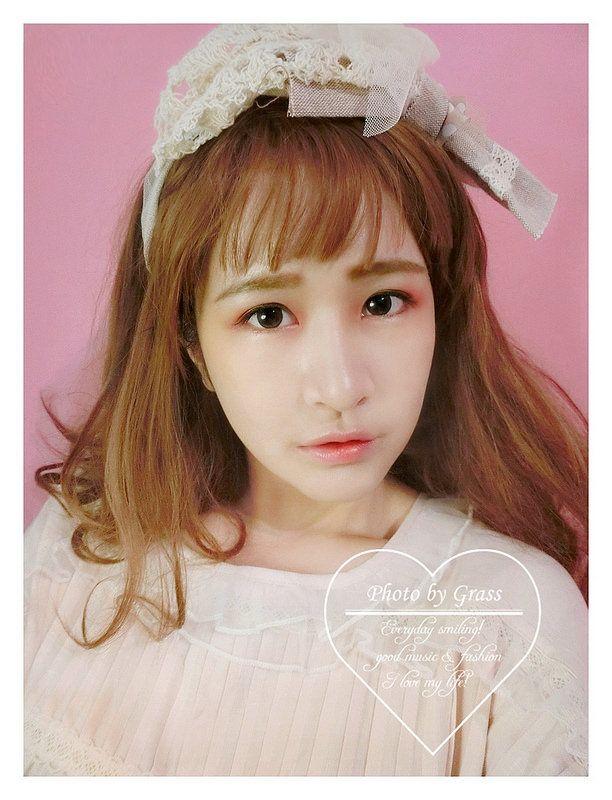乾燥玫瑰+粉橘色調創造古董娃娃困惑美顏(韓系/日系/KISS ME/眉毛畫法)
