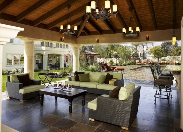 Image Detail For  Home Style California Living Room Outdoor Kitchen U0026  Cabana Design .