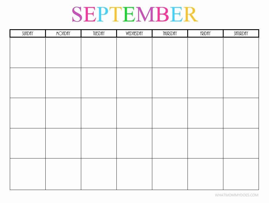 Editable September 2019 Calendar Printable Template With Holidays