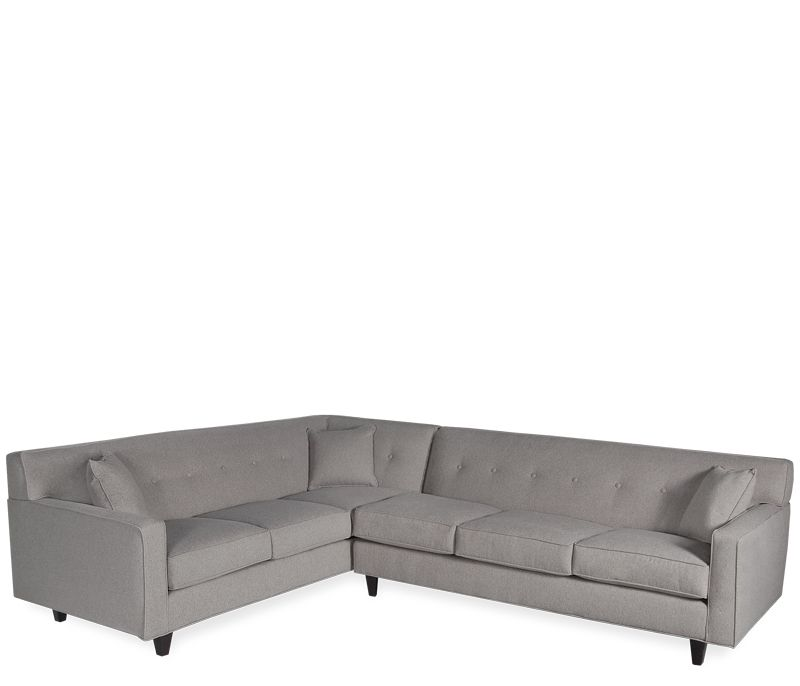 Draper 2 Pc Sectional This Tufted Tight Back Sofa Offers High Style With Low Maintenance Upholstered In A Durable Sectional Sofa Boston Interiors Sectional
