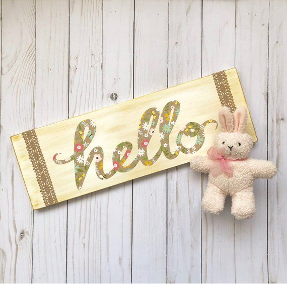 Farmhouse Hello Entryway Welcome Wood Sign Floral Hello Sign Hello Spring Wall Art Large Hello S Mom Easter Gifts Spring Decor Welcome Wood Sign