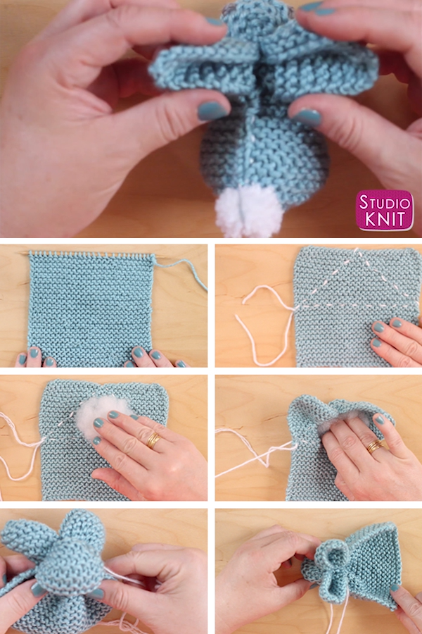 Photo of Knit a Bunny from a Square for Beginners